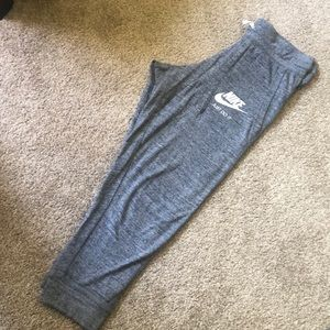 Capri length Nike pants
